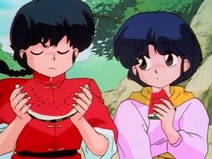 Ranma and AKane eating pakwan
