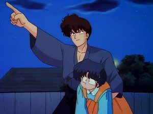 Ryoga tries to run away with Akane