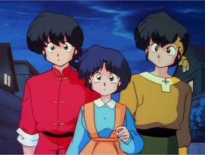 Ranma, Akane, and Ryoga