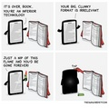 Book vs. eReader - reading photo