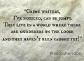 Crime Writers Quote - reading photo