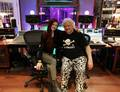 Margarita Monet with Michael Wagener - rock-n-roll photo