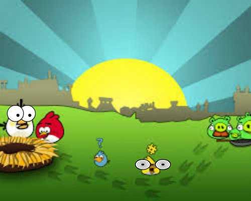 angry birds wallpaper called SAD BIRDS