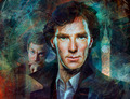 Sherlock and John - sherlock-on-bbc-one fan art