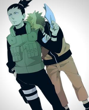 Shikamaru Nara and Naruto Uzumaki