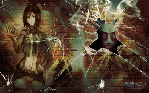 Shingeki no kyojin attack on titan gambar mikasa wallpaper hd shingeki no kyojin attack on titan wallpaper titled mikasa wallpaper voltagebd Image collections
