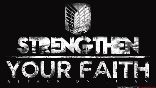 Shingeki no Kyojin (Attack on titan) karatasi la kupamba ukuta with a multiplex and a diner entitled Strengthen your Faith