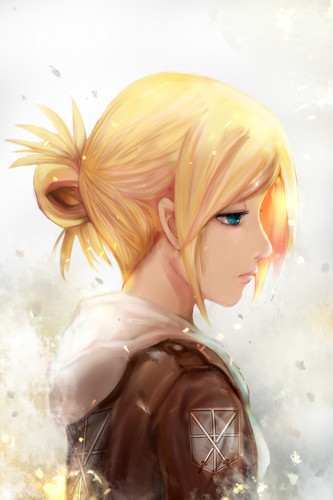 Shingeki no Kyojin (Attack on titan) wallpaper possibly containing a bouquet called Annie Leonhardt
