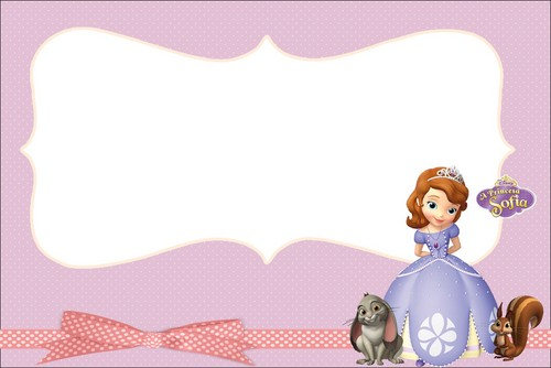 Sofia The First achtergrond entitled tag border
