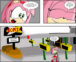 Amy loves Sonic Fast 食 Restaraunt?