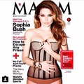 Sophia struik, bush for Maxim magazine.