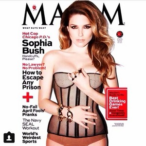 Sophia buisson, bush for Maxim magazine.