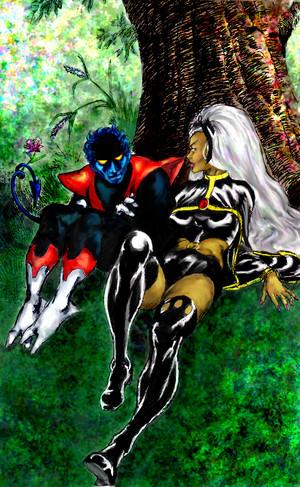 Ororo Munroe and Kurt Wagner (Storm and Nightcrawler) fanart