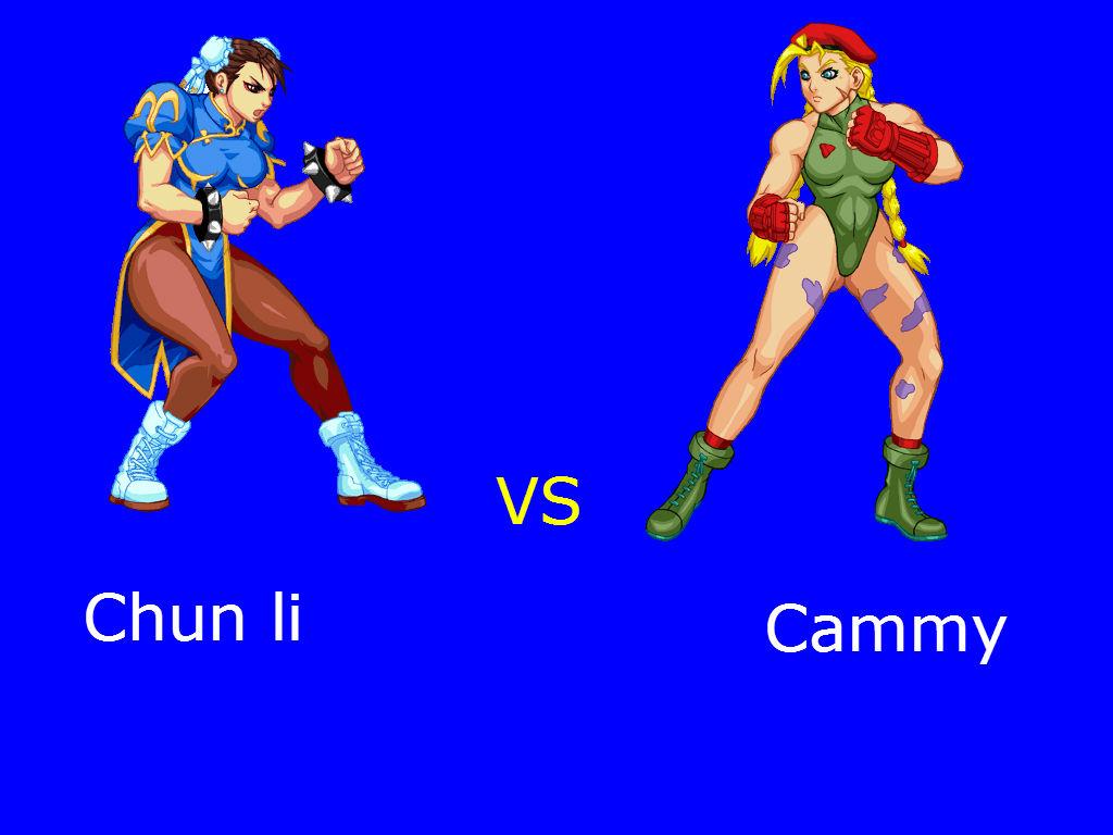 Chun Li Vs Cammy Street Fighter Fan Art 36747316 Fanpop