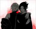Suigetsu Hozuki and Sasuke