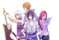 Suigetsu Hozuki, Jugo, Karin and Sasuke
