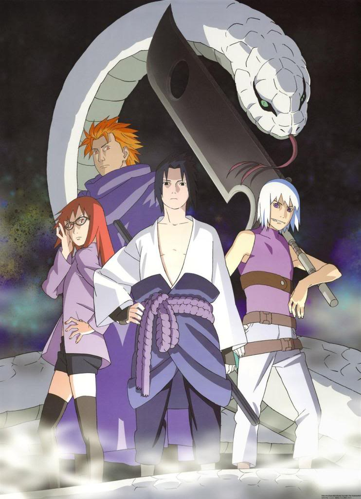 Resultado de imagem para sasuke juugo karin e suigetsu imagem hd