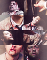 Castiel Bleeding  - supernatural fan art