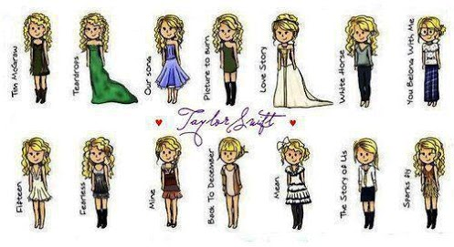 taylor rápido, swift wallpaper entitled Taylor Swift~Music Video Outfits