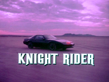 "The 80s wallpaper titled ""Knight Rider"""