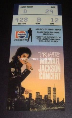 Vintage Michael Jackson konzert Tickets