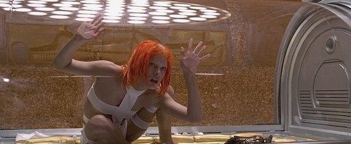 The Fifth Element wallpaper possibly containing a lectern, a living room, and a sign titled The Fifth Element - Leeloo