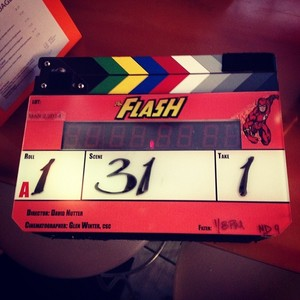 The Flash BTS