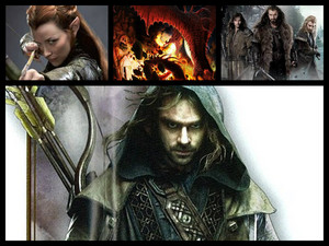 Kili, Fili, Thorin, Tauriel, and Smaug