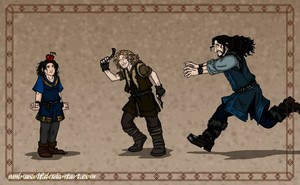 fili, kili, and thorin