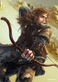 Kili the archer - the-hobbit fan art