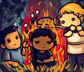 The Girl on Fire - the-hunger-games fan art