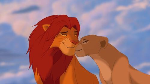 The Lion King wallpaper entitled Simba x Nala Love <3