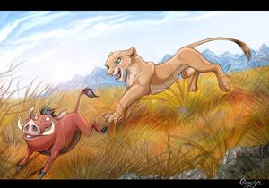 Nala and Pumbaa