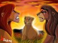 TLK 2 Kovu, Simba, and Nala