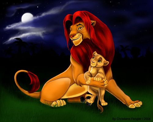 The Lion King kertas dinding titled Simba and Kiara! <3