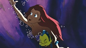 Walt Disney Screencaps - Princess Ariel & menggelepar, flounder