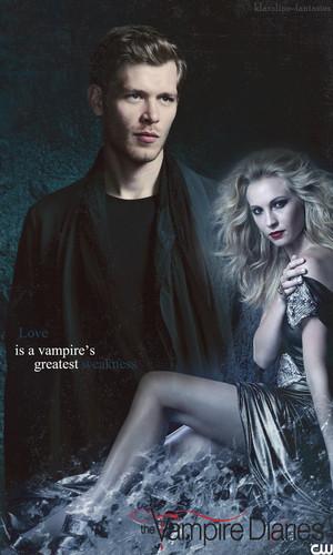 The Vampire Diaries (Klaroline Fanart Poster)