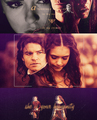 Katherine and Elijah  - the-vampire-diaries-tv-show fan art