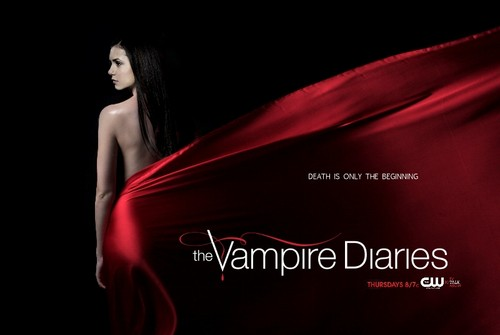 The Vampire Diaries TV toon achtergrond probably with a avondeten, diner dress and a cocktail dress entitled The Vampire Diaries Season 5 Poster