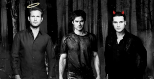 Enzo, Alaric and Damon