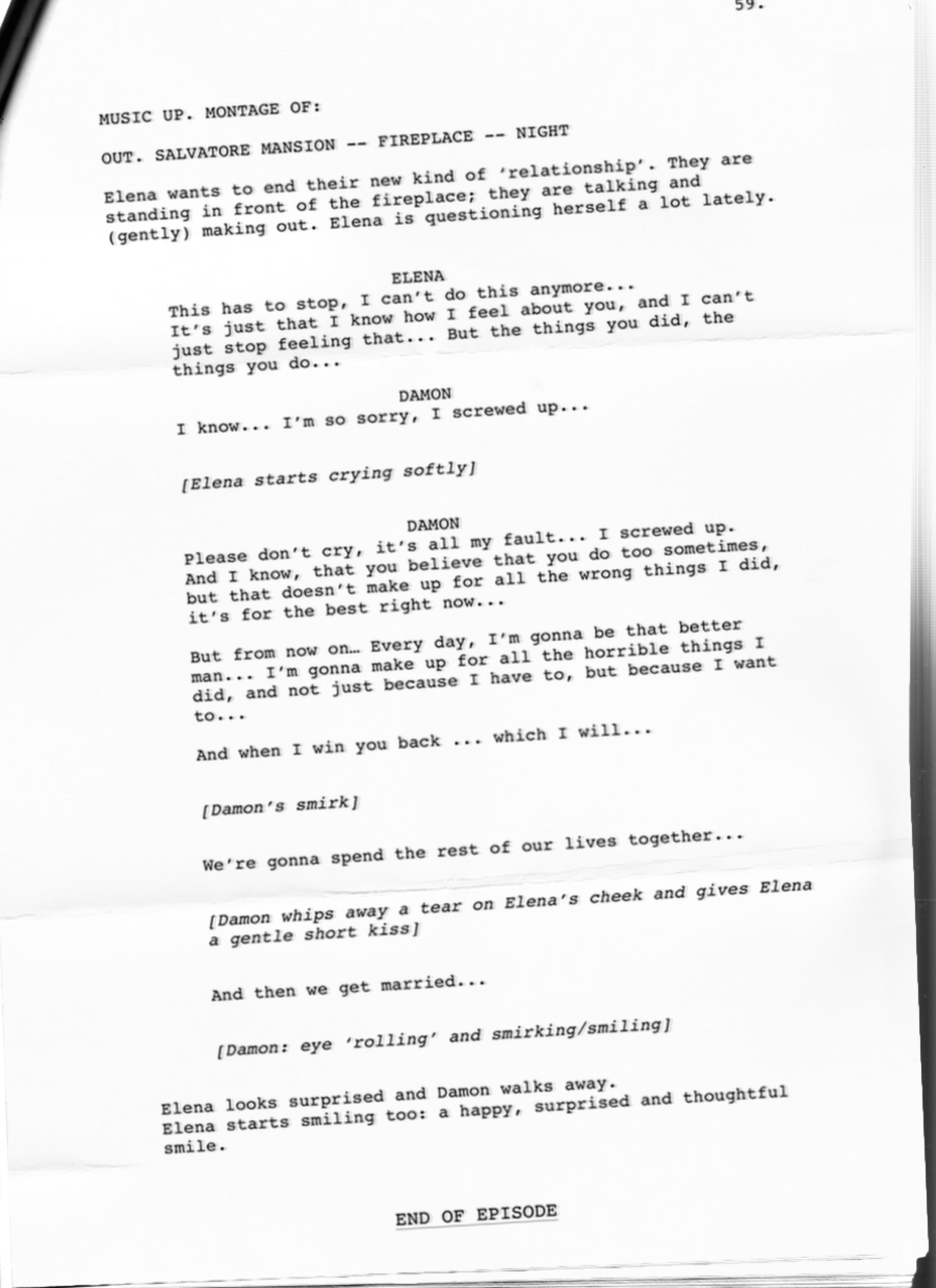 Season Finale Script: Damon