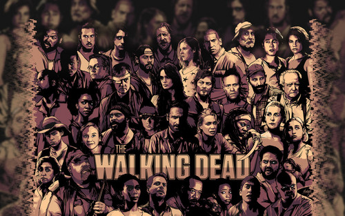 The Walking Dead karatasi la kupamba ukuta possibly containing anime called The Walking Dead