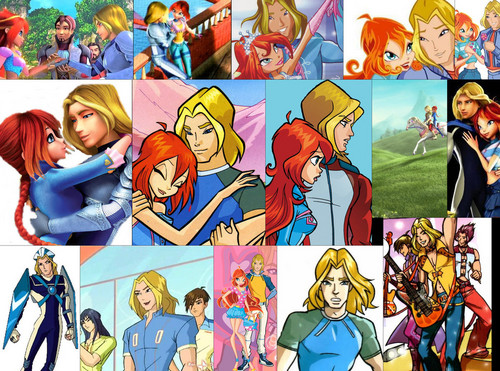 The Winx Club پیپر وال possibly with عملی حکمت entitled Bloom and Sky