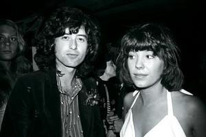 Jimmy Page and Pamela Des Barres