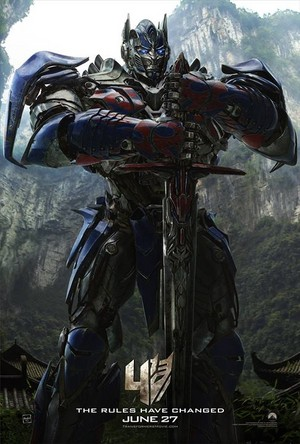 Transformers: Age of Extinction - New Poster of Optimus Prime