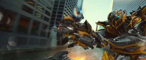 Transformers Wallpaper Possibly With A Street Entitled Bumblebee From Age Of Extinction