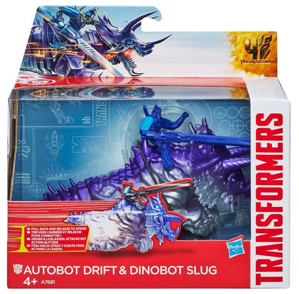 transformers 4 dino sparkers drift and slug transformers