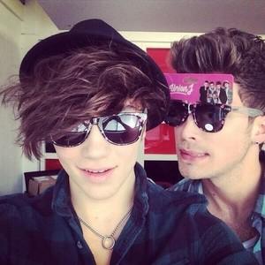 Josh and George wearing cool glass