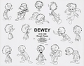Walt Disney Sketches - Dewey Duck - walt-disney-characters photo