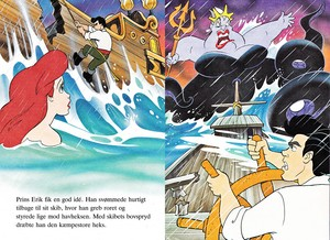 Walt Дисней Book Обои - Princess Ariel, Prince Eric & Ursula